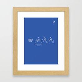 Voyager Golden Record Fig. 4 (Blue) Framed Art Print