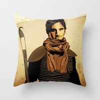 dune Throw Pillows featuring DUNE by Storm Media