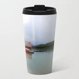 Maligne Lake Boathouse Travel Mug