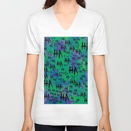 The Joker: HA HA HA Unisex V-Neck