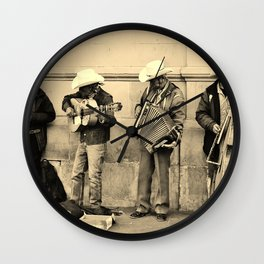 Los Musicos Wall Clock