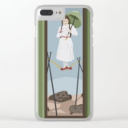 Stretching Desert Clear iPhone Case