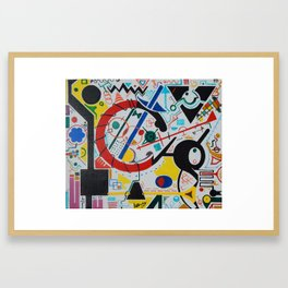 Shape Club Framed Art Print