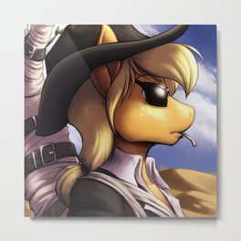 My Little Pony/Trigun - Applewood Metal Print