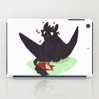 toothless iPad Cases featuring Toothless by Flora