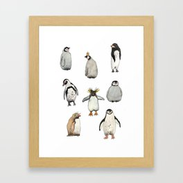 Cute penguins Framed Art Print