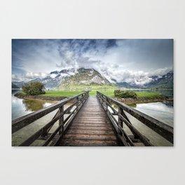 Hallstatt lake Canvas Print