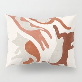 Abstract Lazy Cats Pillow Sham