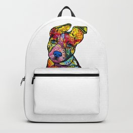 Colourful Pit Bulls, pit bull gift Backpack