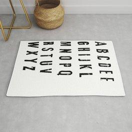 funny alphabet letter orginal gift Rug