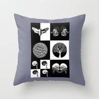 literary Throw Pillows featuring The Literary Pocket Book by Moon Fox