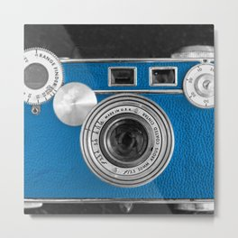 Dazzel blue Retro camera Metal Print