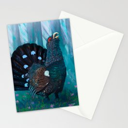 Capercaillie lek in spring Stationery Cards