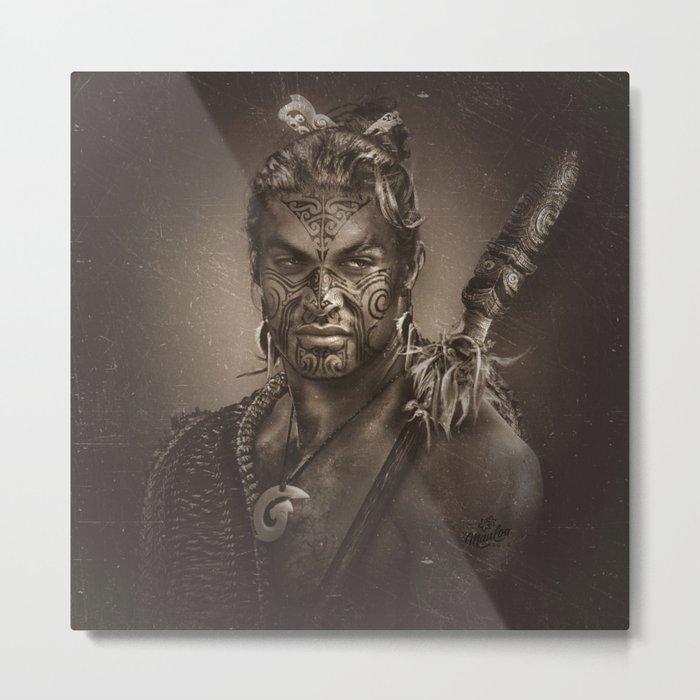 Native series: Jason Momoa Maori Metal Print