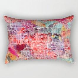 Tempe map Arizona painting 2 Rectangular Pillow
