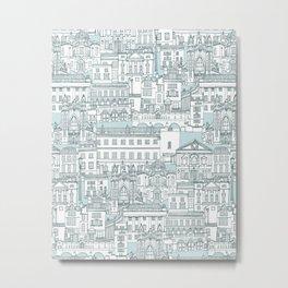 Bath toile pine mint Metal Print