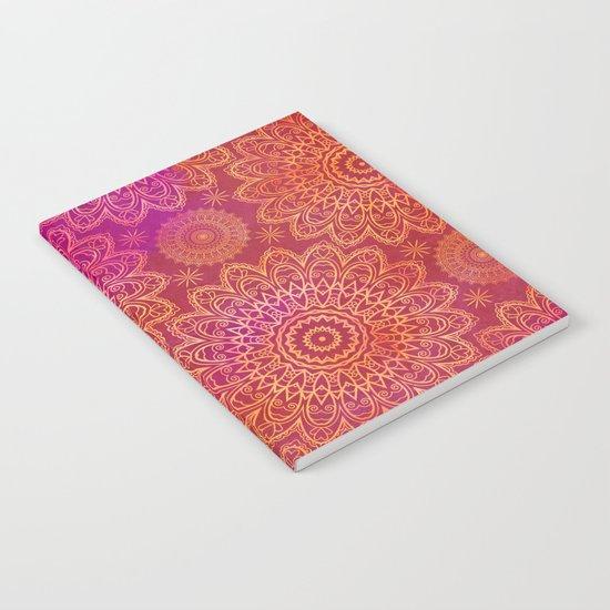 Mandala Pattern pink orange Notebook
