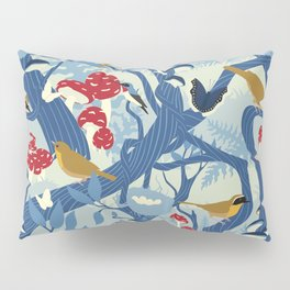 North American Forest Pattern (Blues) Pillow Sham