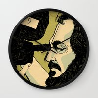 stanley kubrick Wall Clocks featuring kubrick by Le Butthead