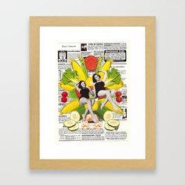 pure corn oil Framed Art Print