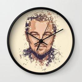 Leonardo DiCaprio splatter painting Wall Clock