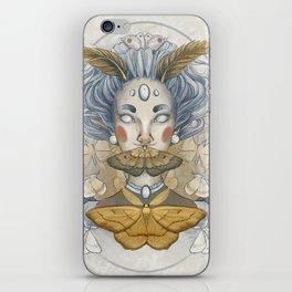 Moth Woman iPhone Skin
