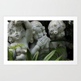 Baby Angel Statues Art Print