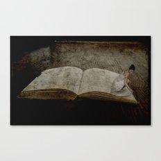 Librarian at Work Canvas Print