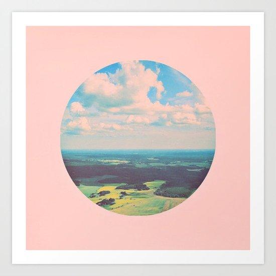 Earthy Pink Art Print