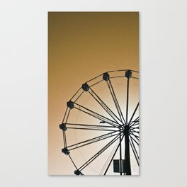 The Wheels Fly - Gold Canvas Print