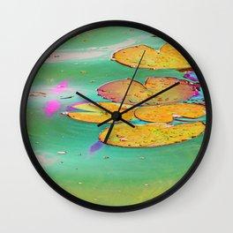 Searose Leaves  Wall Clock