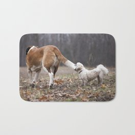 Take the World by the Tail Bath Mat