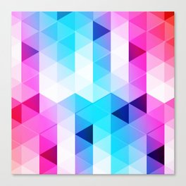 Abstract Triangle Colorful Canvas Print