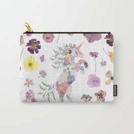 Unicorn & Florals Carry-All Pouch