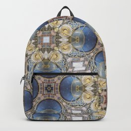 Blue and Gold Pattern Backpack