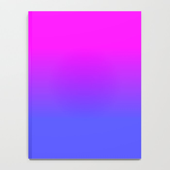 Neon Blue and Hot Pink Ombré Shade Color Fade Notebook