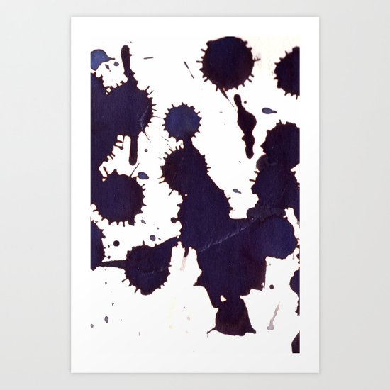 drugging drips, from a height  Art Print