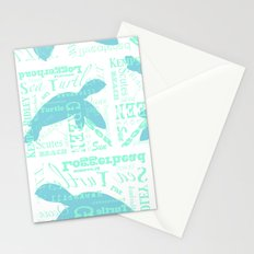Abstract Sea Turtle Stationery Cards
