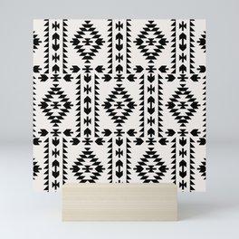 GEO PANEL WHITE Mini Art Print