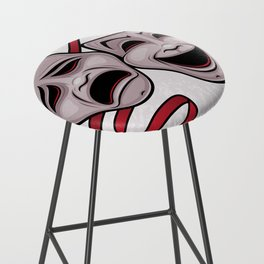 Comedy And Tragedy Theater Masks Bar Stool