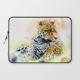 Jaguar in watercolor Laptop Sleeve