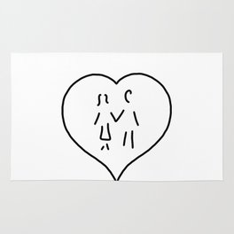 huglovers married couple wedding Rug