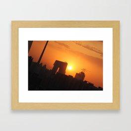 Beijing Sunset Framed Art Print