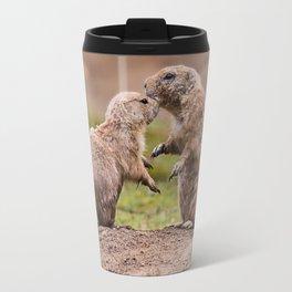 Cute little prairie dogs love Travel Mug