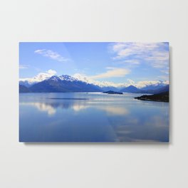 New Zealand Lake Digitized to Oil Effect Metal Print