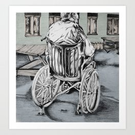 Portrait of a dying father Art Print