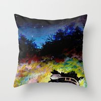twilight Throw Pillows featuring Twilight by Ivanushka Tzepesh