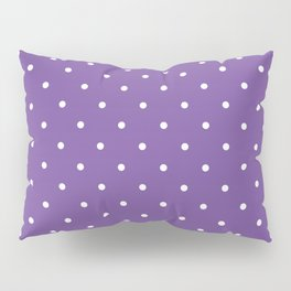 Small White Polka Dots with Purple Background Pillow Sham