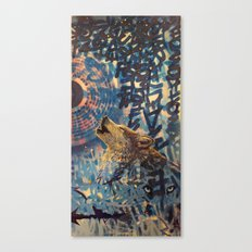 THE WOLF HOWLED AT THE STAR FILLED NIGHT Canvas Print