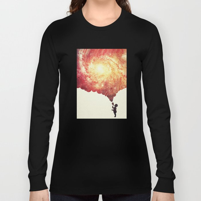 The universe in a soap-bubble! (Awesome Space / Nebula / Galaxy Negative Space Artwork) Long Sleeve T-shirt
